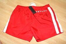 Replay Italien Bademode Schwimmen Netzfutter Rot Designer Urlaub Sonne Shorts 32
