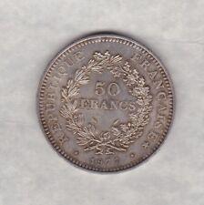 Francia 1977 50 francos de plata en estado casi extremadamente fino