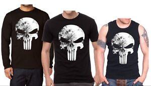 Punisher The Skull Black New Men's T-shirt Long Sleeve Shirt Tank Top