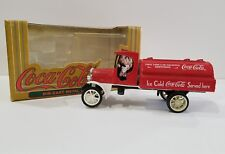 COLLECTIBLE DIE CAST COCA COLA FIRST TANK CAR BANK 1994 BOX INCLUDED