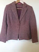 For Women Wool Blend Blazer Smart Jacket Top Size 10