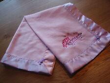Baby bedding Handmade Embroidered Lavender fleece/Lilac Satin Blanket Binding