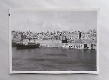 1946 B/W Photograph. View of Valletta, Malta #1. Taken from Troop Carrier Ship