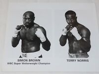 """Simon Brown vs Terry Norris 1993 WBC Super Welterweight fight 8"""" x 10"""""""