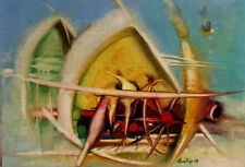 ORIG. ABSTRACT Painting RUSSIAN ARMENIAN Artist H. TADEVOSYAN TATOS TATOSS Թաթոս