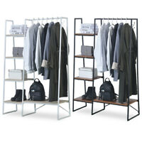 Metal Clothes Holder Storage Rack Coat Garment Shoes Shelf Stand Organizer