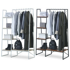 Metal Clothes Holder Storage Rack Coat Garment Shoes Shelf Stand Organizer