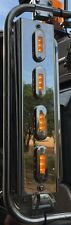 """Mirror Stainless - C/A 2"""" Straight Lights to suit Kenworth,Mack and Western Star"""