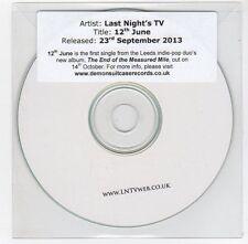 (FC115) Last Night's TV, 12th June - 2013 DJ CD