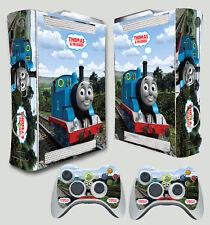 XBOX 360 THOMAS THE TANK ENGINE AND FRIENDS TRAIN STICKER SKIN & 2 PAD SKINS