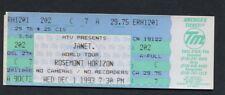 1993 Janet Jackson unbenutzt Konzert Ticket Janet. World Tour Rosemont IL
