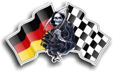 Grim REAPER Muerte Diseño con Alemania Alemán Bandera Vinilo Coche Pegatina 130x80mm