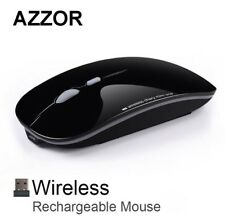 Wireless Slimline Optical Mouse Rechargeable 2.4GHz (Piano Black) (Brand New)