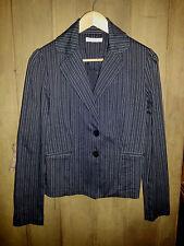 SUPRE Ladies Chocolate Brown PINSTRIPE JACKET COAT Officewear VGUC Size 12