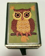 Vintage Embroidered Owl Design Congress Pinochle Deck Of Playing Cards