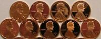 2000-2008 S Lincoln Memorial Cent Gem Deep Cameo Proof Run 9 Coin Set US Mint.