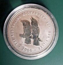 2009 Australian Kookaburra round 1 oz BU-ST Silver with PM capsule
