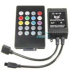20 Keys DC 12V Sound Sensor Music IR Remote LED Controller for RGB Strip Light