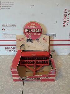 Carter TRU-SCALE 409 Grain Drill Planter Seeder Tractor Attachment Toy/rough box