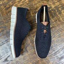 Cole Haan ZeroGrand Stitchlite Wingtip Oxford Shoes Black/Ivory [C24948) Men's 9