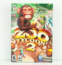 Zoo Tycoon 2 PC 2004 CD-Rom w/ Box & User Guide - Microsoft Game