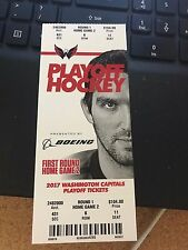 2017 WASHINGTON CAPITALS VS TORONTO MAPLE LEAFS TICKET STUB GAME #2 PLAYOFF 4/15