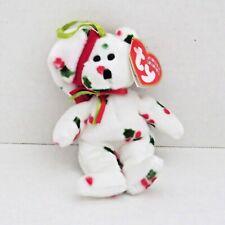 HOLLY SANTA BEAR TY Jingle Beanies Christmas Stuffed Plush