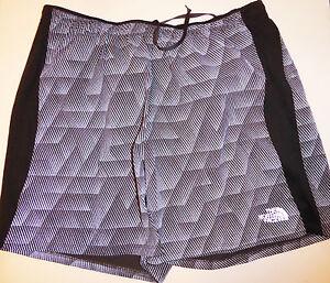"The North Face Men's NSR 5"" SHORTS Night Running Cycling Grey Reflective Print M"