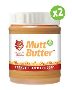 2 MUTT BUTTER 100% Natural Peanut Butter For Dogs NO PALM OIL Sugar Salt Xylitol