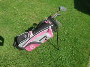 Golf Set Golfbag + 3 Schläger Mädchen rosa RH 4-8 J. CHALLENGER CADE T