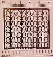 Photo-etched Sheet 1:32 Stablemate Horse Shoes or 1:9 Harness Decorations SILVER