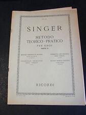Partition Méthode Théorique Pratique Hautbois Singer Partie III Music Sheet