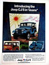 "1974 Jeep Renegade C J Levis Original Print Ad 8.5 x 11"""