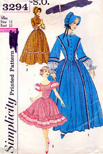 Vintage Sewing PATTERN Misses Dress  Centennial  Square Dance Costume Size 12
