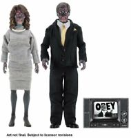 "They Live 1988 Sie Leben John Carpenter 8"" 20 cm Clothed 2-Pack Figuren Set NECA"