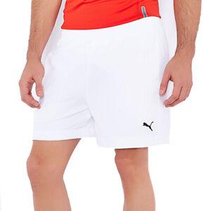 PUMA Essential Woven Mens White Gym Sports Training Running 5 Inch Shorts