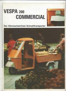 Vespa 200 commercial Dreirad Original Prospekt brochure depliant
