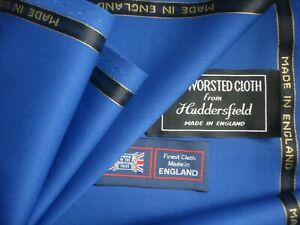 """100% SUPER 120's WOOL WORSTED SUITING """"2/2 TWILL"""" FABRIC =MADE IN ENGLAND= 3.4 m"""