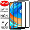 2X For Xiaomi Redmi Note 9 9S 8 7 Pro Full Cover Tempered Glass Screen Protector