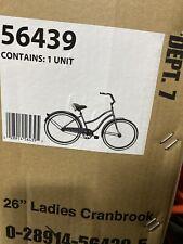 "Huffy 26"" Cranbrook Women's Beach Cruiser Comfort Bike, GRAY GREEN *NEW*"
