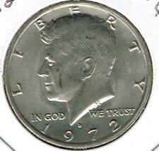 1972 Denver Uncirculated Copper-Nickel Clad Copper Strike Half Dollar Coin!