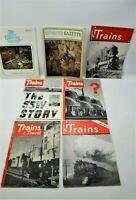 Trains - The Illustrated Magazine About Railroads 1950, 53, 54, 62, Gazette
