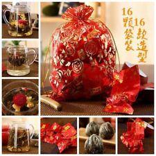 16pcs Random Kinds Blooming Flower Tea Artistic Blossom Flower Green Tea Gift