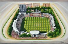 More details for lords cricket stadium aerial view fine art a4 print - middlesex & england