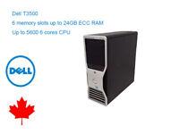 Dell Precision T3500 Workstation 4 Cores CPU 12GB RAM 240GB NEW SSD WIN7/10