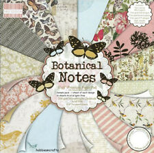 Dovecraft First Edition 8x8 Paper Pad - BOTANICAL NOTES - Scrapbooking Cards