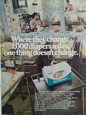 1981 Pampers Where They Change a Mil Pañales a Day Enfermera Hospital Anuncio