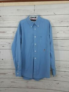 Tommy Hilfiger - Men's Button Down Shirt Large Crest Blue Free Shipping