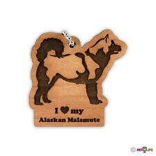 I Love My Alaskan Malamute Keychain key chain keys charm mally
