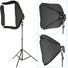 "Neewer Pro Portable 24x24"" Hotshoe Softbox for Speedlite + 9ft Light Stand Kit"